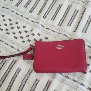 Beautiful red coach wristlet